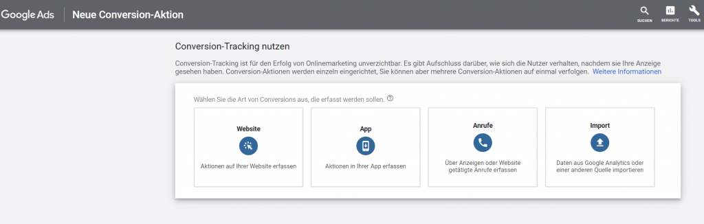 Google Ads Conversion Tracking nutzen